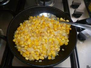 Add the corn in