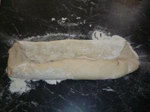 Shape the dough into batons...