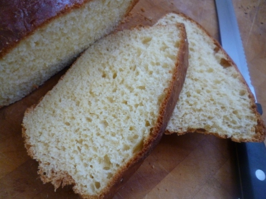Brioche sliced...