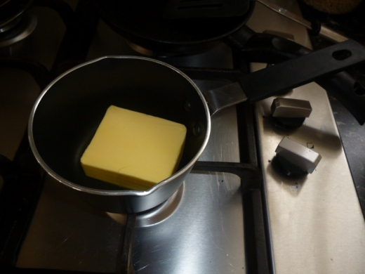 Melting butter...