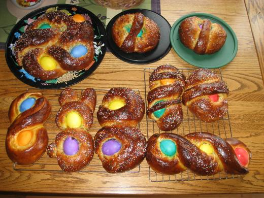 Sicilian Easter breads....
