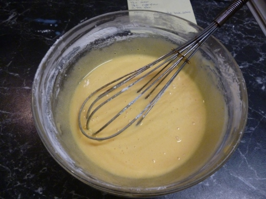 Whisk the eggs and sugar..