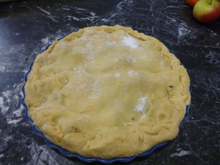 Covered and ready to go in the oven...almost...
